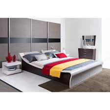 Platform Bed With Lights Contemporary Grey Platform Bed With Lights And Middle Console