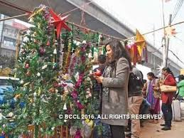 budget christmas trees bring festive cheer to noida noida news