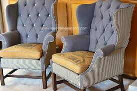 Wing Back Armchairs Acceptable Upholstered Wingback Chairs For Your Chair King With