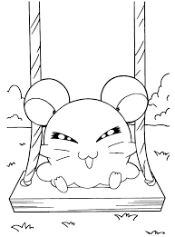 Coloriages Hamtaro S Princesses A S Hamster A Coloriage Hamster