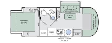Coachmen Class C Motorhome Floor Plans Floor Plans Siesta Sprinter Motorhomes Class C Rv By Thor Motor