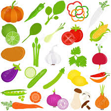 colorful food vector icons fruit and vegetables royalty free