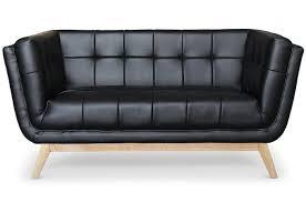 canapé capitonné design canapé capitonné 2 places simili noir flisa canapé 2 places pas cher