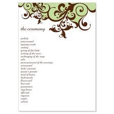 diy wedding programs kits green brown wedding program templates moss do it