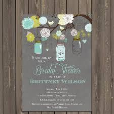 jar invitations jar bridal shower invitation teal and grey jar