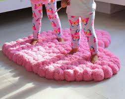 pink area rug etsy