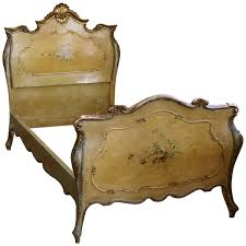 hand carved rococo style cherub bed reproduced by la maison single italian rococo painted bed