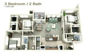 in apartment plans 3 bedroom apartments plans