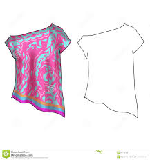 fashion illustration flat technical sketch template stock