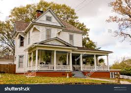 old farmhouse house plants on front stock photo 23253613