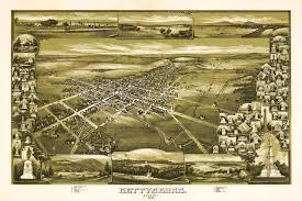 Birds Eye View Maps Gettysburg 1913 Battlefield Bird U0027s Eye View Anniversary Map