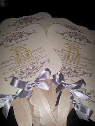 Wedding Program Paper Kits Cathy U0027s Concepts Pr15 Diy Designer Fan Program Paper Kit Program