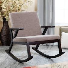 Black Nursery Rocking Chair Furniture Oversized Glider Rocker With Ottoman Reclining Glider