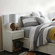 White Headboard King Storage Bed Headboard White West Elm