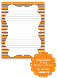 thanksgiving stripes stationery paper printable treats