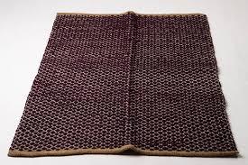 Woven Rugs Cotton Plum And Rustic Woven Rug Cotton Rug Ecofriendly Rug Rag Rug