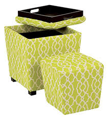 Green Ottoman Lime Green Storage Ottoman For Your Living Room And Bedroom