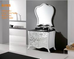 classic solid wood white contemporary makeup bathroom cabinet