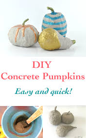 how to make concrete pumpkins without a mold video anika u0027s diy