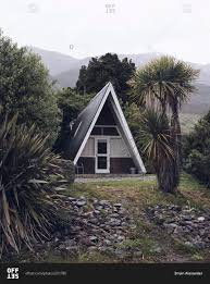 a frame cottage a frame cabin in makarora new zealand stock photo offset