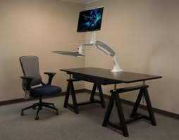 Sit Stand Desk Converter by Cadence Sit Stand Workstation Single Or Dual Monitor U2013 Standup