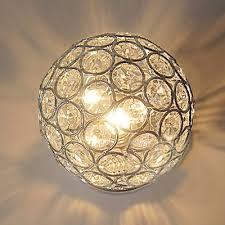 Chrome Flush Mount Ceiling Light by Glittering Crystal Ball And Elegant Semi Flush Mount Ceiling Light