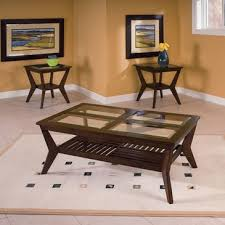 3 piece end table set standard furniture norway 3 piece coffee table set in merlot