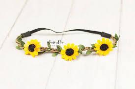 sunflower headband s day gift sunflower baby headband boho headband halo