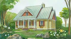 southern living 2014 idea luxihome 18 small house plans southern living wrap around porches 1575 chenoweeth watercolor rendering slm5 f small