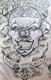 100 gangster clown designs gangster clown with 28 more ideas