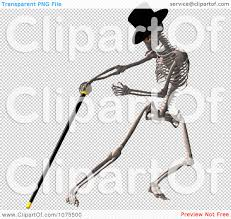 dancing halloween skeleton background clipart 3d skeleton wearing a top hat and dancing with a cane 1