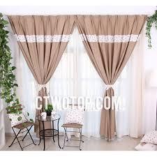 Brown Burlap Curtains Custom Organic Plaid Brown Country Lined Burlap Curtains