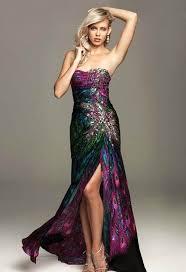 peacock print prom dresses plus size prom dresses
