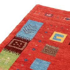 hand knotted persian gabbeh rug with innovative persian design rizo