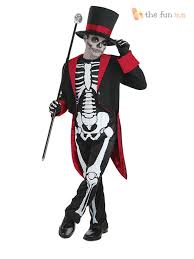 Glow In The Dark Skeleton Costume Boys Bone Jangles Skeleton Suit Jacket Glow In Dark Skeleton