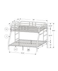 Monarch Specialties Inc Twin Over Full Futon Bunk Bed Wayfair - White futon bunk bed