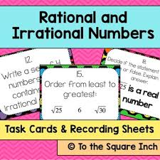 rational and irrational numbers task cards tpt