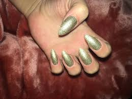 gold sparkle set nail polish tape included false nails