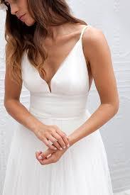 simple open back wedding dresses simple v neck spaghetti straps wedding dress open back