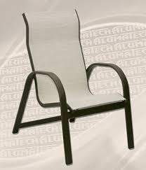 High Back Sling Patio Chairs Tahiti Sling Line Patio Furniture