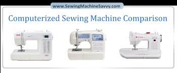 a review of three top selling computerized sewing machines
