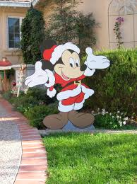 mickey and minnie wood cutout yard mickey mouse