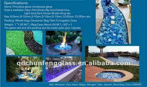 glass rock glass stone fireplace glass landscape glass super white