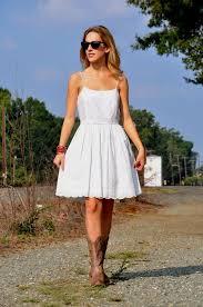 skater dress with cowboy boots naf dresses