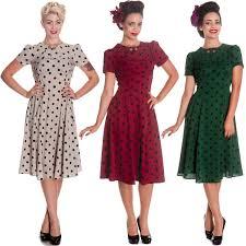 1940s dresses hell bunny madden polka dot 1940s 50s wartime landgirl victory tea