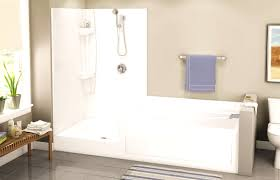 built in bathtub shower combination rectangular acrylic for