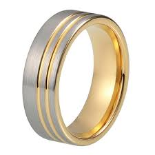 gold wedding rings for men mens yellow gold wedding band tungsten wedding rings