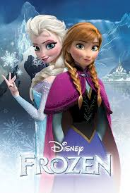 image frozen movie poster sisters 24x36 disney snow queen
