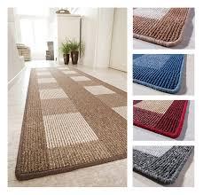 teppichl ufer flur teppich läufer küchenläufer 67 cm breit beige grau blau rot ebay