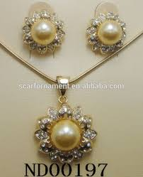 gold pearl necklace sets images Dubai gold jewelry pearl set ranni haar pearl wedding engagement jpg